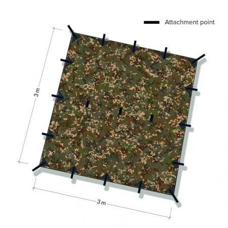 DD Hammocks Tarp 3x3 MC - Camuflage - Toldo Bushcraft