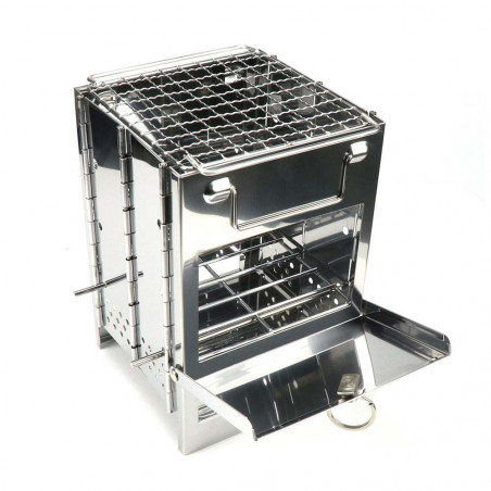 North Star Foldable Grill BBQ - Hornillo parrilla plegable de leña