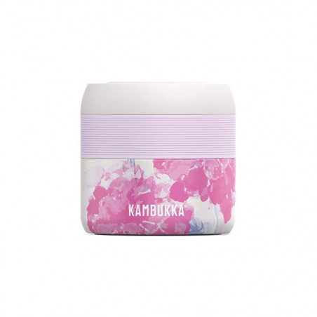 Kambukka Bora 400 ml Pink Blossom - Fiambrera térmica tupper