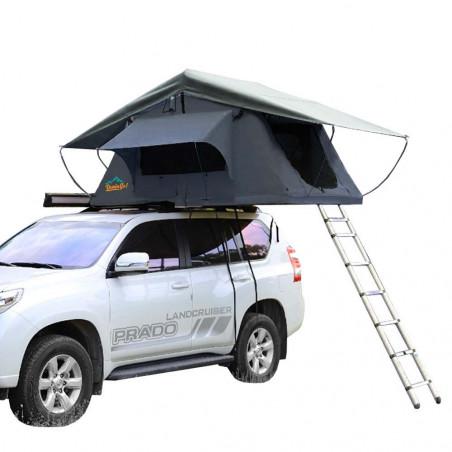 Domin Go! Camper DMG 135 + Avance marrón - Tienda de techo para coche