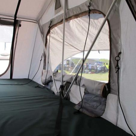Domin Go! Camper DMG 310 + Avance verde oliva - Tienda de techo para coche