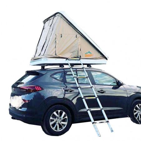 Domin Go! Camper DOTERO 125 marrón - Tienda de techo rígida para coche