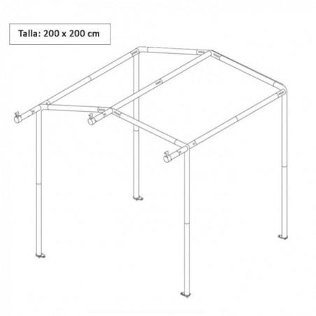 Armazón estructura de acero telescópica para Tienda Cocina 200 x 200 cm