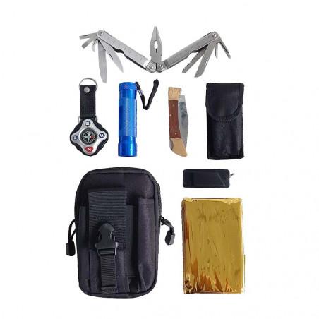 Hosa EDC Pouch Kit - Kit supervivencia completo con alicates multiusos