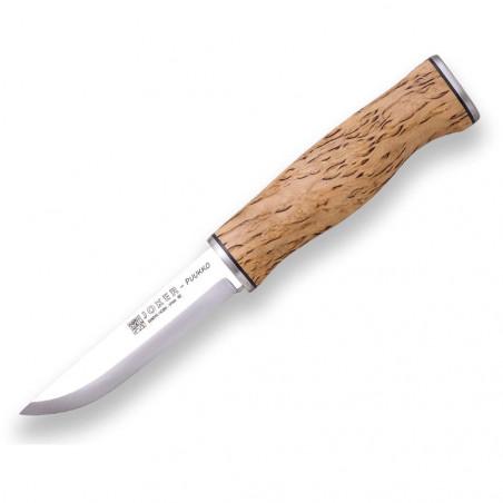 Joker Puukko abedul rizado - Cuchillo de supervivencia y bushcraft