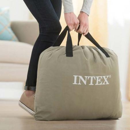 Intex Fibertech 152 x 203 cm - Colchón eléctrico hinchable doble