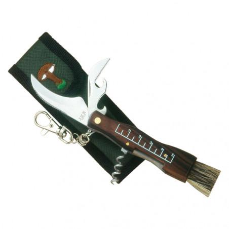 JKR Navaja para setas 7 cm con sacacorchos - Navajas para setas