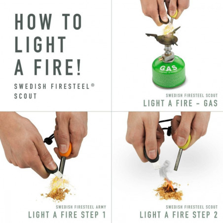 Light My Fire FireSteel BIO army cocoshell  - Ferrocerio