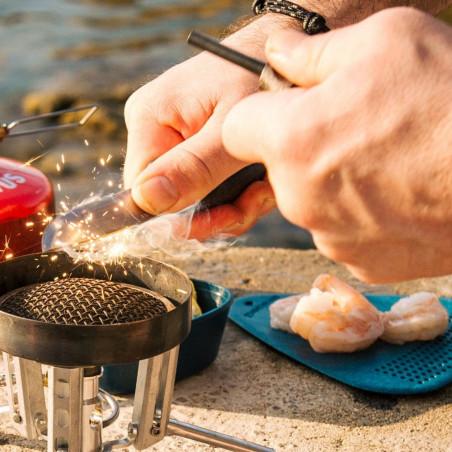 Light my Fire Swedish FireKnife BIO 2in1 cocoshell - Cuchillo escandinavo con Ferrocerio