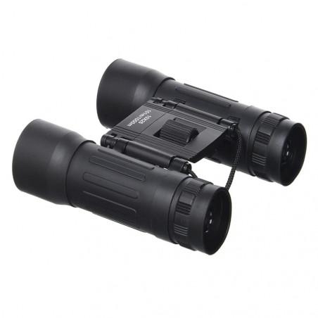 Mil-tec Binoculares plegables 10x25 negro
