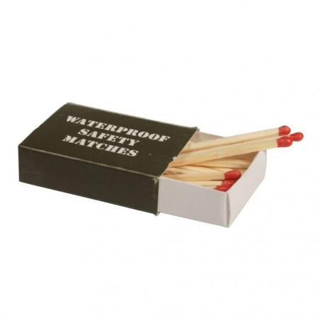 Mil-Tec Pack de 4 cajas de 35 cerillas resistentes al agua
