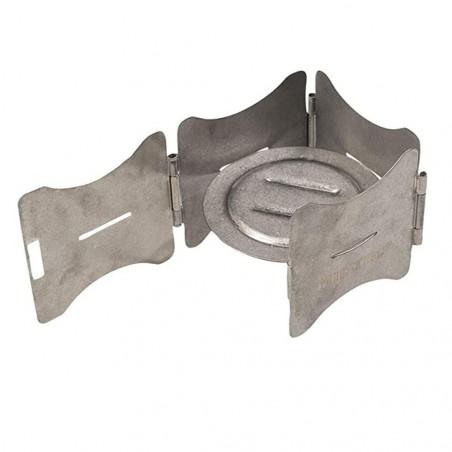 Mil-Tec Soporte de cocina plegable de acero inoxidable