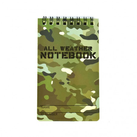 Pack 2 North Star Camo all weather lined notebook - Bloc de notas waterproof impermeable