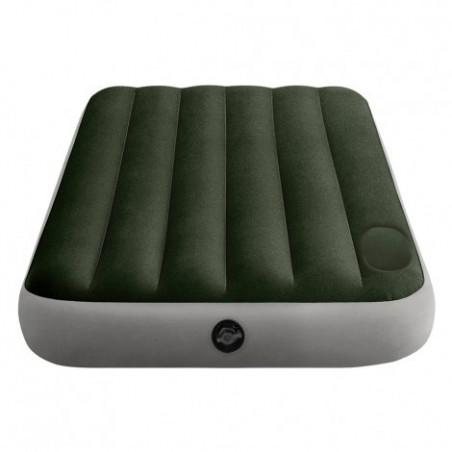 Intex Downy con Fiber-Tech - Colchón hinchable eléctrico camping individual