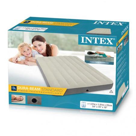 Intex Fiber-tech Deluxe High - Colchón hinchable camping doble