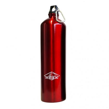 Hosa Aluminio Mosquetón 1,5 Litros roja - Botella cantimplora