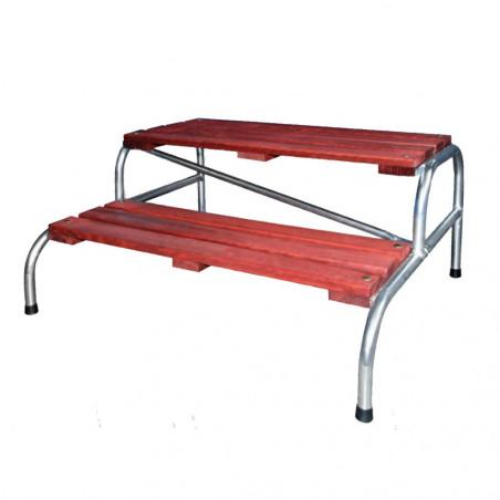 Escalón doble para caravana BANQUETA MODULO - madera