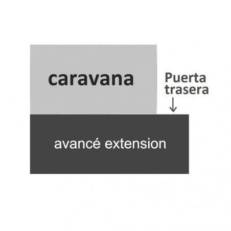 Avancé caravana pvc Stil Extension con tapas - fondo 250 cm