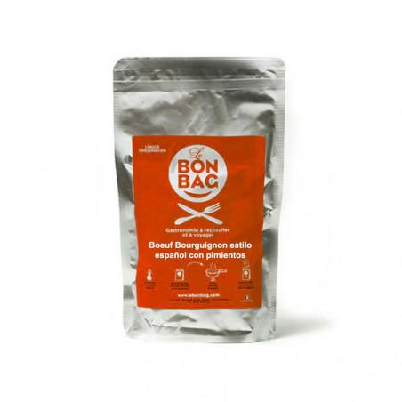 Le Bon Bag - Boeuf Bourguignon con Pimientos - Comida Esterilizada 250 g