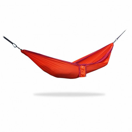Home on Earth Parachute Hammock bordeaux orange - Hamaca doble ultraligera