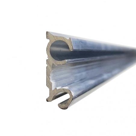 Guía de aluminio doble ø 5 y 7 mm para bordón de toldilla o avance caravana - por metros