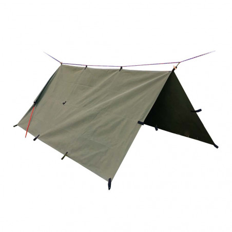 Outhaus Fredlig Canvas Tarp 3x3 - Toldo Bushcraft Heavy Duty