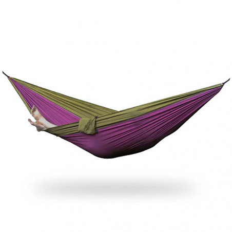 Outhaus Frieda Parachute Silk Hammock gold/purple - Hamaca ultraligera paracaídas