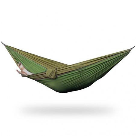 Outhaus Frieda Parachute Silk Hammock khaki/green - Hamaca ultraligera paracaídas
