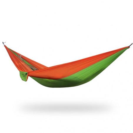 Outhaus Frieda Parachute Silk Hammock orange/green - Hamaca ultraligera paracaídas