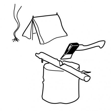 Bahco Hacha HGPS 38 cm - Hacha de camping mango fresno curvado