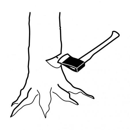 Bahco Hacha FCP 80 cm - Hacha canadiense mango nogal