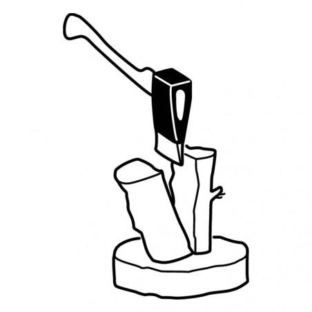Bahco WS 23 cm - Cuña acero tradicional partir leña