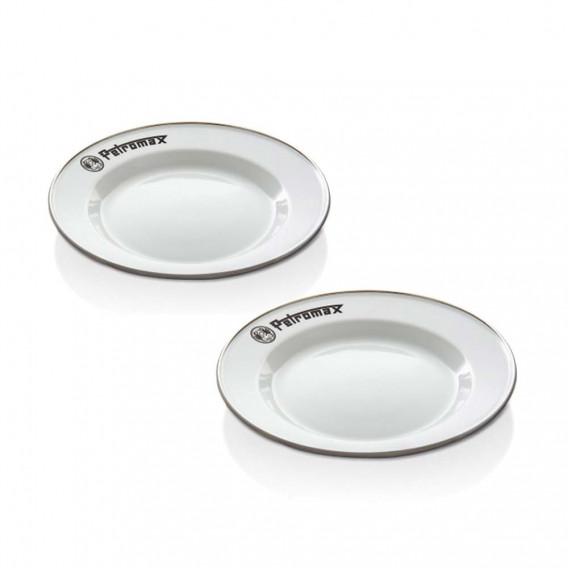 Petromax Enamel Plate Set - Pack 2 platos esmaltados negros
