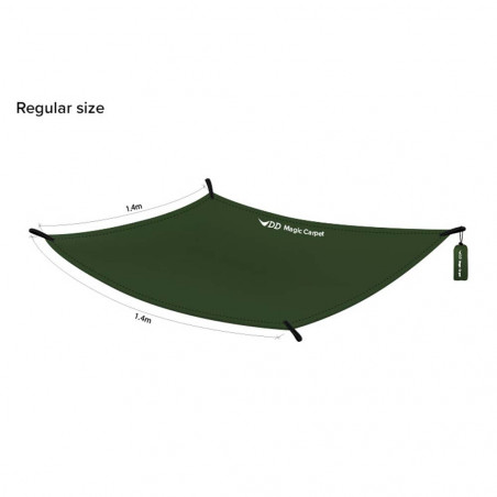 DD Hammocks Magic Carpet XL verde oliva - Suelo de bushcraft y camping