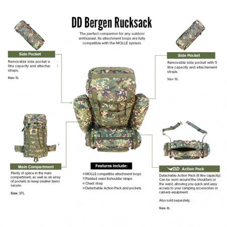 DD Hammocks Bergen Rucksack 55L verde - Mochila táctica de bushcraft