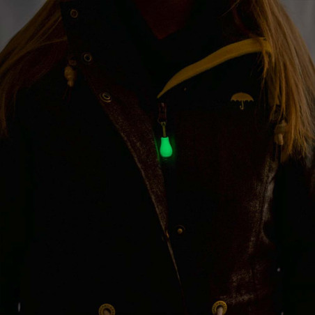Ropescout Glow Zip Marker small - Pack 4 tiradores fluorescentes cremallera