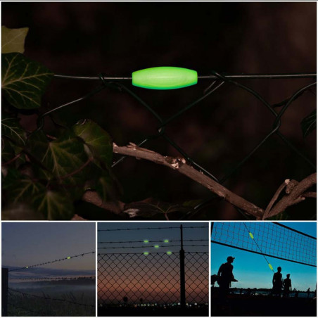 Ropescout Glow Rope Marker - Pack 8 clips fluorescentes vientos tensores