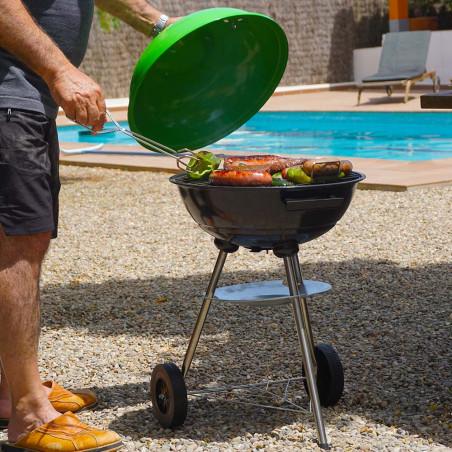 Barbacoa portátil redonda Hosa CAMP BBQ - verde