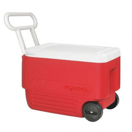 Igloo WHEELIE COOL 38 roja - Nevera rígida con ruedas