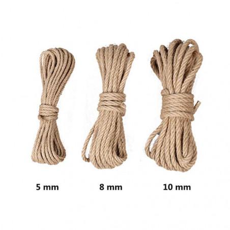 Cuerda de Yute Natural 5, 6, 8 y 10 mm – 10 metros