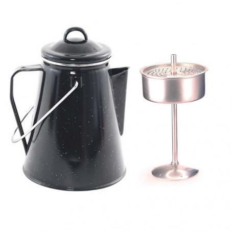 OZtrail ENAMEL COFFEE POT 2L negra - Cafetera esmaltada vintage