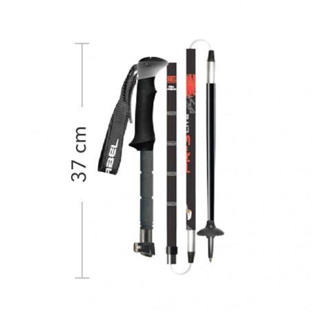 Gabel FR-3 EF - Bastones plegables de trekking y esquí de travesía