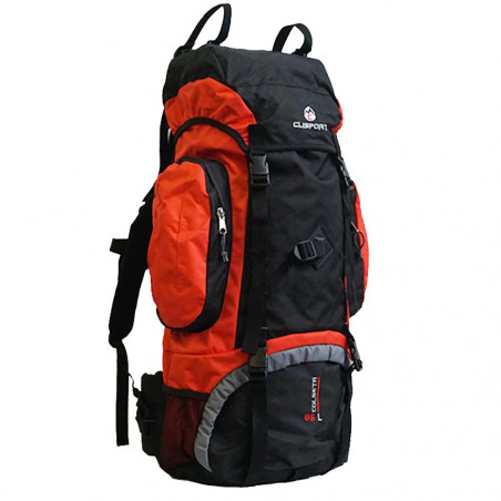 Clisport COLSETA 85L roja y negra - Mochila de trekking