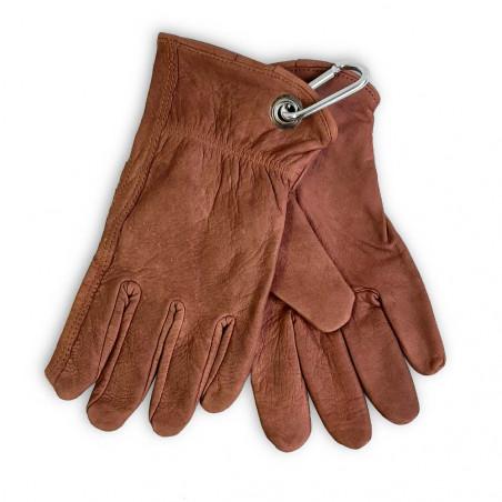 North Star Bush Gloves marrones - Guantes de trabajo con mosquetón
