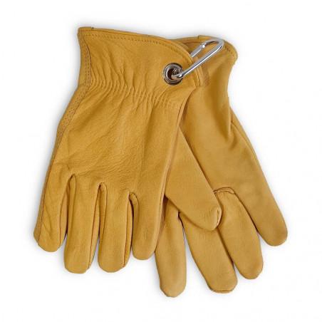 North Star Bush Gloves amarillos - Guantes de trabajo con mosquetón