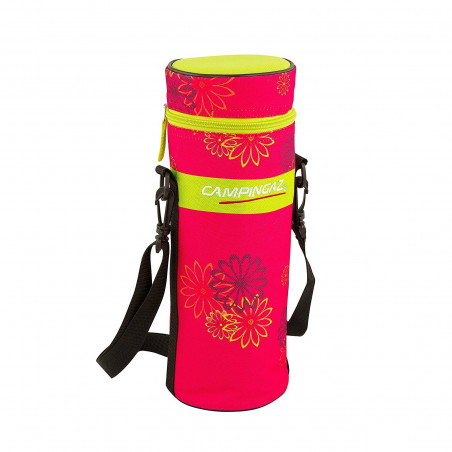 Nevera flexible CAMPINGAZ PINK DAISY BOTTLE COOLER 1,5L