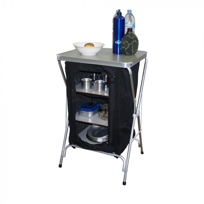 Armario cocina plegable hosa 3 estantes camping sport for Mueble de cocina camping
