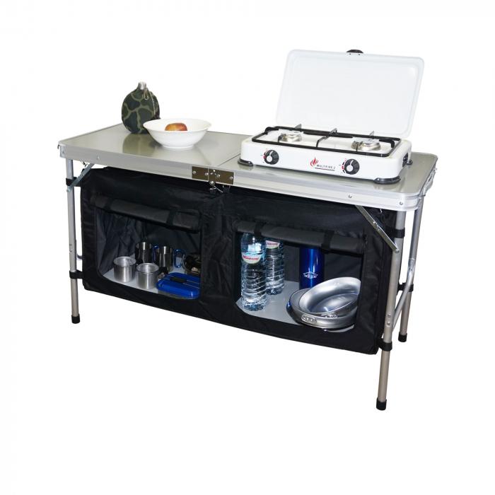 Armario cocina plegable hosa maleta 2 estantes camping sport for Armario plegable camping