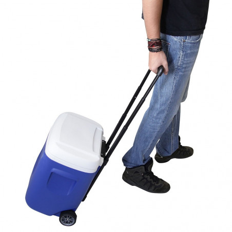 Nevera rígida con ruedas Igloo Coolers ISLAND BREEZE 28 ROLLER - azul