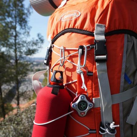 Mochila de trekking FORREST 60 gris/naranja